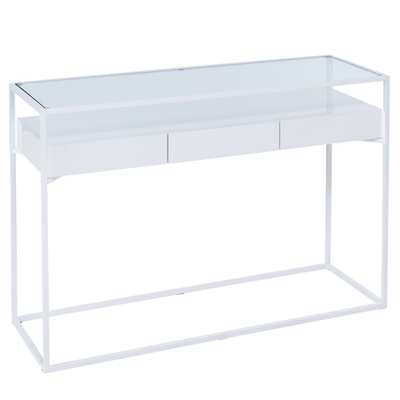 Drift console table white gloss