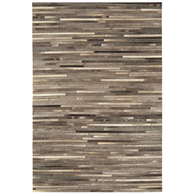 Gaucho rug dark grey stripe large