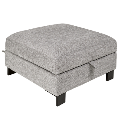 Lugano storage footstool grey