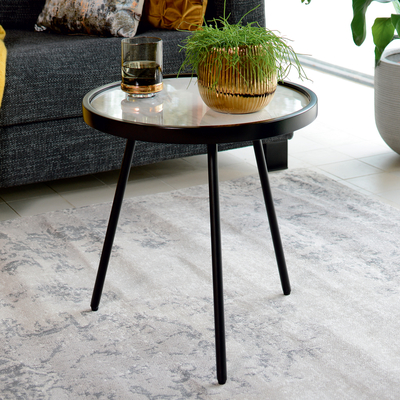 Allos side table marble ceramic white