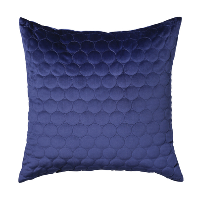 Quilted circles cushion navy