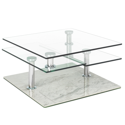 Jacque coffee table light grey marble ceramic base