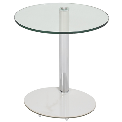 Tomasz adjustable oval side table white marble ceramic base