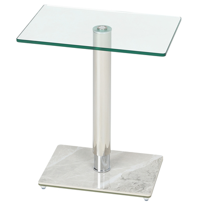 Tomasz side table white marble ceramic base