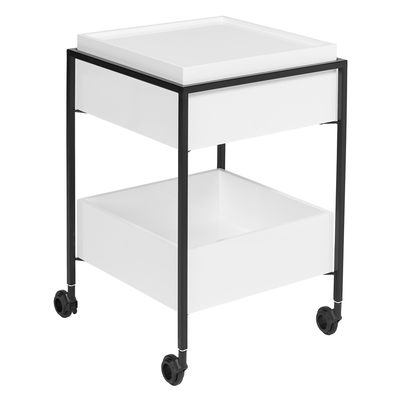 Drift trolley white gloss