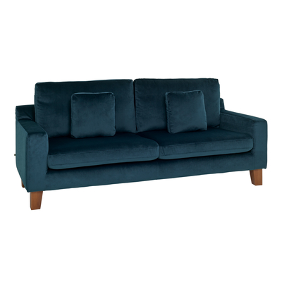 Ankara three seater sofa blue velvet
