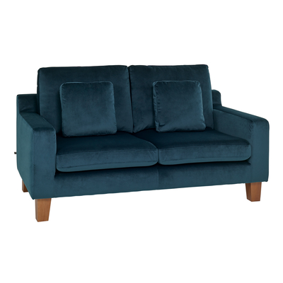 Ankara two seater sofa blue velvet
