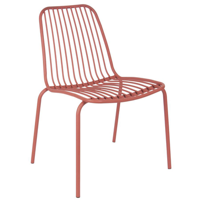 Henley outdoor chair coral metal