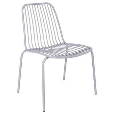 Henley outdoor chair light grey metal