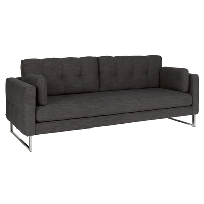 Paris four seater sofa charcoal fabric