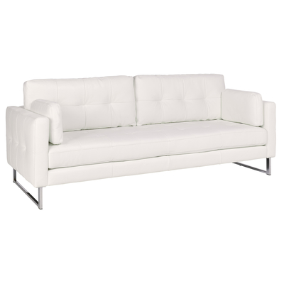 Paris leather four seater sofa brilliant white