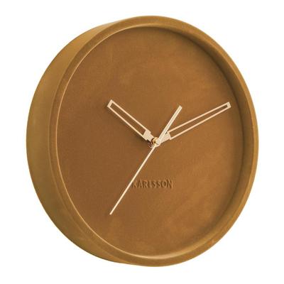Velvet wall clock mustard