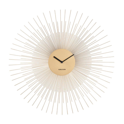 Spindle wall clock gold large