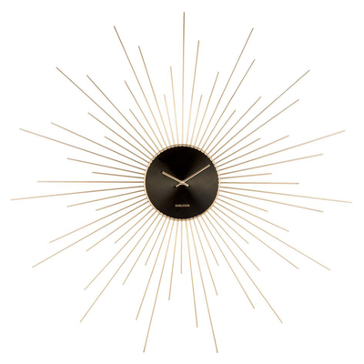 Spines wall clock gold large