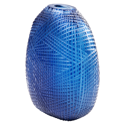 Hatch vase blue tall
