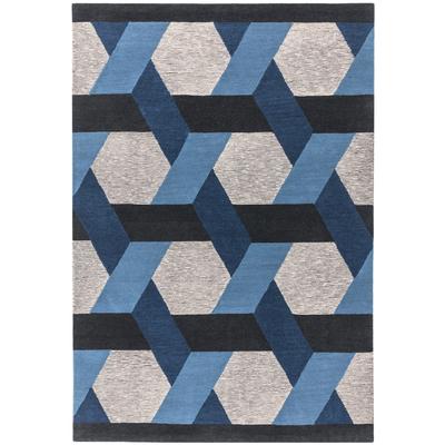 Weave rug blue large