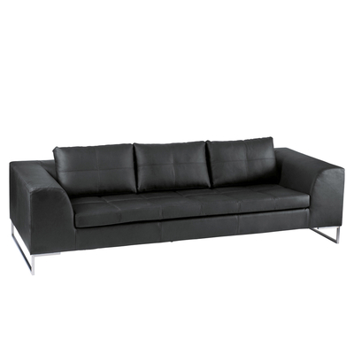 Vienna three seater sofa black