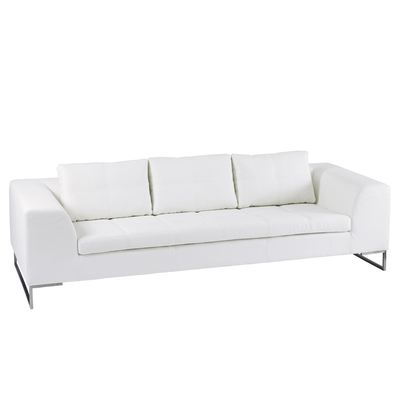 Vienna three seater sofa white