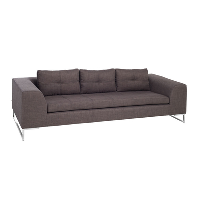 Vienna fabric three seater sofa truffle