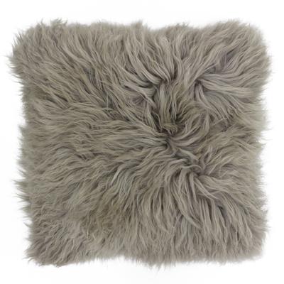 Mongolian sheep cushion brown
