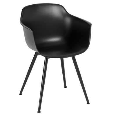 Treviso dining armchair black with black leg
