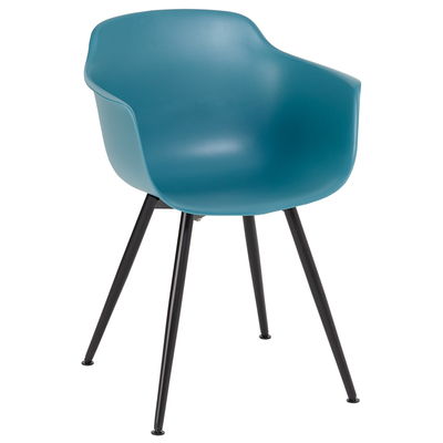 Treviso dining armchair teal with black leg