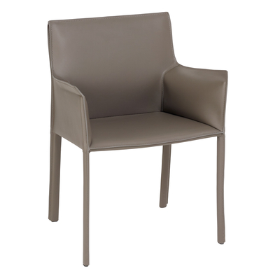 Sillon leather dining chair stone