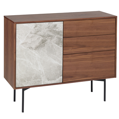 Marma compact sideboard grey marble ceramic