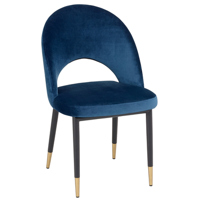 Comida dining chair blue velvet