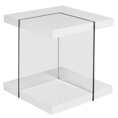 Treble side table white