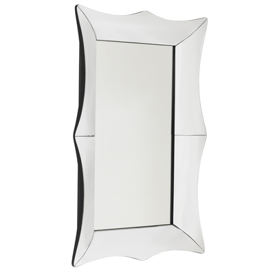 Aero wall mirror silver medium