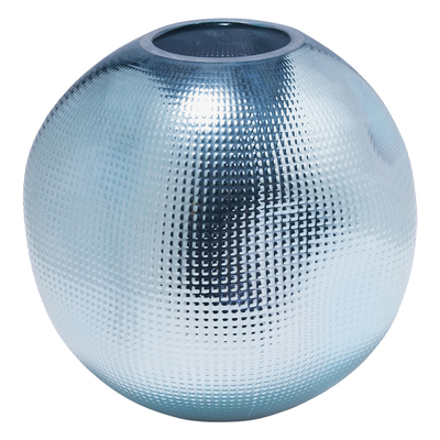 Brillare vase blue metallic ceramic round