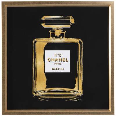 Parfum wall art black