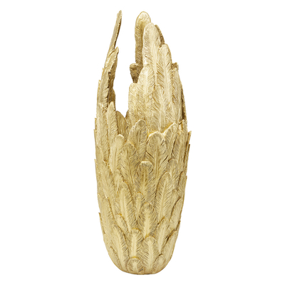 Pluma decorative vase gold large