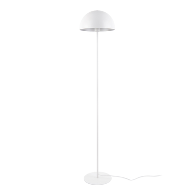 Bonnett floor lamp white metal