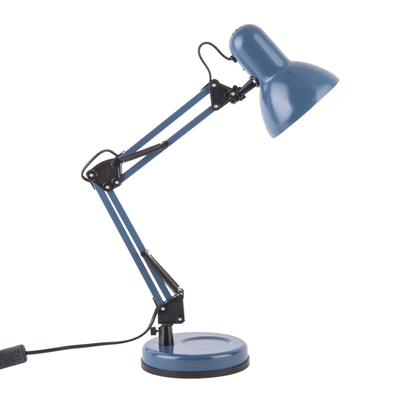 Mossa desk lamp metal matt dark blue