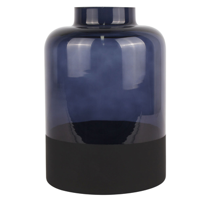 Ombre glass vase dark blue