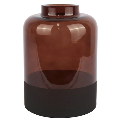 Ombre glass vase brown