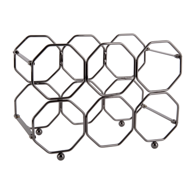 Vino fold-able honeycomb wine rack metal grey