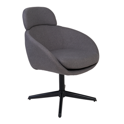 Cula swivel chair grey fabric