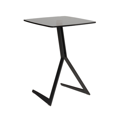 Sopra laptop table smoke glass top