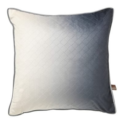 Ombre grey velvet cushion