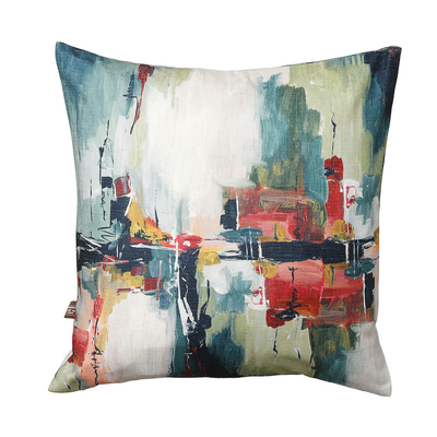 Abstract paint fabric cushion