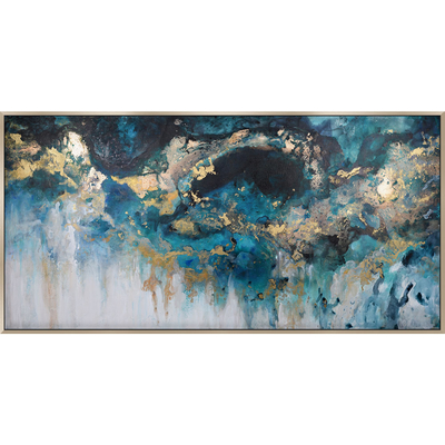 Midnight sky abstract painting