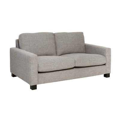 Monaco two seater sofa grey fabric