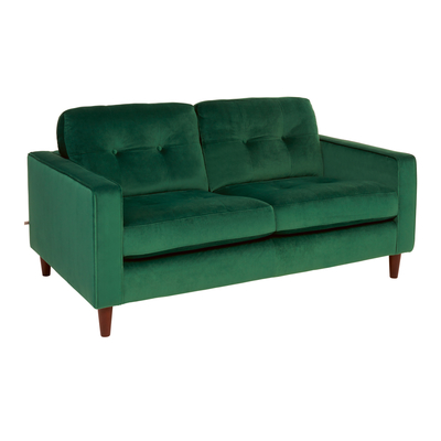 Bergen two seater sofa forest green velvet