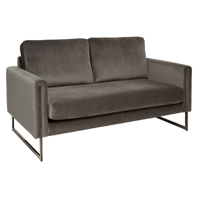 Bruges two seater sofa grey velvet