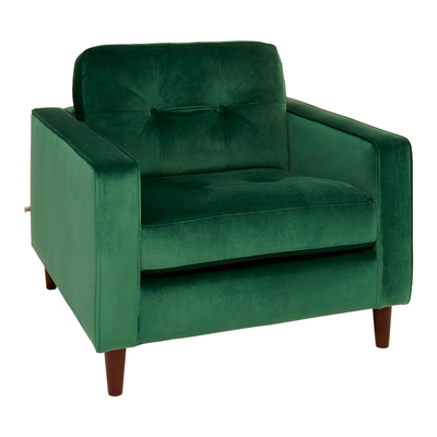 Bergen armchair forest green velvet