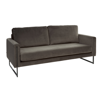 Bruges three seater sofa grey velvet