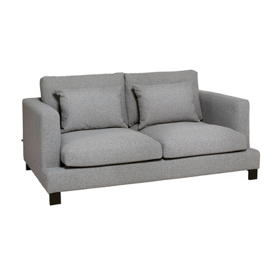 Lugano two seater sofa silver